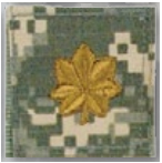 Premier Emblem PMSV-119 BLACK ACU ranks WT VELCRO - Major