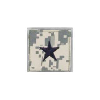 Premier Emblem PMSV-122 BLACK ACU ranks WT VELCRO - Brig General
