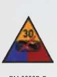 Premier Emblem PMV-0030B 30th Armor Div