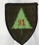 Premier Emblem PMV-0091A 91st Infantry Div