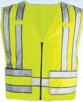 Premier Emblem PV1006 Zip–Front 5 Point Breakaway Safety Vest