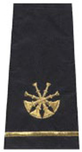 Premier Emblem S1508 Four Bugle Shoulder Board