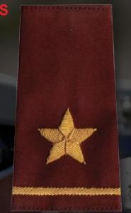Premier Emblem S1874 1 Star Rank Shoulder Boards