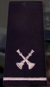 Premier Emblem S1887 Three Crossed Bugle Custom Shoulder Boards