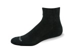 Pro Feet 263K_3 Arch Support Sandwich Terry Half Cushioning Cotton Quarter Sock - White Only