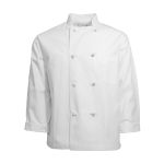 Pinnacle Textile C128 Chef Coat, Blend- 8 knot btn, no arm pckt