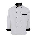 Pinnacle C325 C325 Black Trim Chef Coat