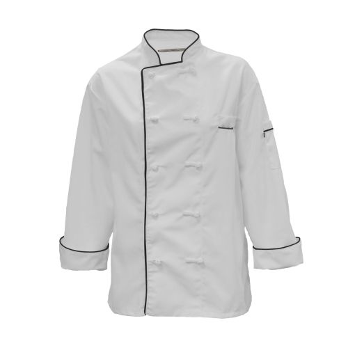 Pinnacle Textile C355 Chef Coat- 10 Knot Buttons