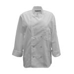 Pinnacle Textile C390 Chef Coat- 10 Pearl Btns, Spun Poly