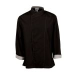 Pinnacle Textile C515 Chef Coat- Poplin, Cross Collar, full slv