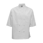 Pinnacle Textile C812 Chef Coat- half sleeve, 10 btns, Plus Blend