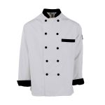 Pinnacle C825 C825 Black Trim Chef Coat