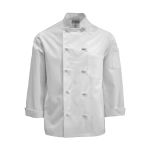 Pinnacle Textile C830 Chef Coat- Knot Btn, Plus Blend, full Slv