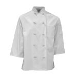 Pinnacle C837 C837 White Blended Short Sleeve Chef Coats