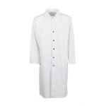 Pinnacle Textile F165 Butcher Frock- Blend, 45 Long, Dome Snap