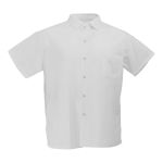 <b>White 65/35 Blended MJS Poplin Cook Shirts</b>