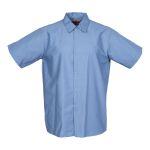 Pinnacle Textile S16 Industrial Mens Shirt, gripper front, Short Slv