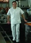 <b>White 80/20 Blended MJS Poplin Cook Shirt</b>