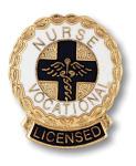 Prestige Medical 1042 Licensed Vocational Nurse (Wreath Edge) Emblem Pin
