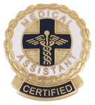 Prestige Medical 1074 Certified Medical Assistant (Wreath Edge) Emblem Pin