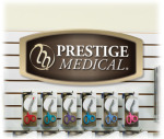 Prestige Medical DIS-SIGN Slat Wall Hanging Display Sign