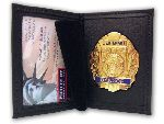 "Perfect Fit 100-D5, 2 3/4"" x 4 1/2"" Dress Leather Badge And ID Case"