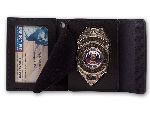 "Perfect Fit 4000, 2 1/4"" x 3 1/4"" Duty Leather Badge And ID Case"