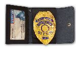 "Perfect Fit 401, 2 1/2"" x 3 3/4"" Non Recessed Badge And ID Case With Snap Closure"