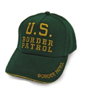 Personal Security Products BORDERPC Border Patrol Cap-Green w/ Letters