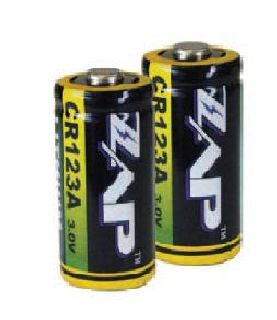 Personal Security Products CR123A-2 ZAP Size CR123A Batteries-2 Pack