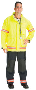 PTF_ProTuff EJ01R-A Advance? EMS Jacket lined with Stedair EMS Moisture Barrier  (2 Red/Orange-Silver Triple Trim)