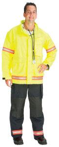 PTF_ProTuff EJ01R-A Advance? EMS Jacket lined with Stedair EMS Moisture Barrier  (2 Red/Orange-Silver Triple Trim)