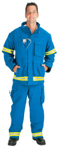PTF_ProTuff EJ01Y-A Advance? EMS Jacket lined with Stedair EMS Moisture Barrier  (2 Lime/Yellow-Silver Triple Trim)
