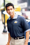 Performance Knit Box Pattern Shirt-Pocket