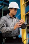 Micro-Check Work Shirt- Long Sleeve
