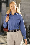 Women's Soft Collar Oxford Dress Shirt- Long Sleeve