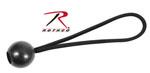 Rothco 10145 6'' Black Bungee Tie And Ball - 10/Pk.