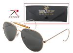 Rothco 10220 Rothco Aviator Air Force Style Sunglasses w/ Case - Gold