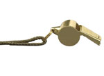 Rothco 10366 Brass GIStyle Police Whistle