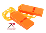Rothco 10373 Flat Whistle / Safety Orange