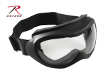 Rothco 10379 Tactical Goggles - Black w/ Clear Lens ''ce''