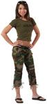 Rothco 1040 Women's Woodland Camo Capri Pants