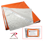 Rothco 1043 Rothco Polarshield Survival Blanket-Orange/Slvr
