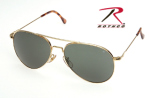 Rothco 10712 58mm Ao General Polarized Sunglasses - Gold ''ce''