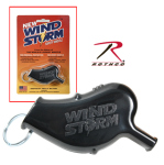 Rothco 10758 Windstorm Safety Whistle / Black