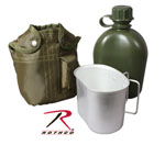 Rothco 1140 GI Type 1qt Plastic Canteen With Cover And Cup