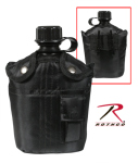 Rothco 1141 Rothco 3pc Canteen Kit w/Cover &Aluminum Cup-Blk