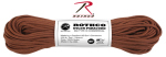 Rothco 122 Rothco Nylon Paracord 550lb 100 Ft / Chocolate Brown