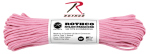Rothco 125 Rothco Nylon Paracord 550lb 100 Ft / Rose Pink