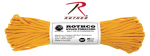 Rothco 126 Rothco Nylon Paracord 550lb 100 Ft / Goldenrod